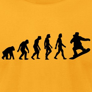 Evolution Snowboarding (1c) T-Shirts - Men's T-Shirt by American Apparel