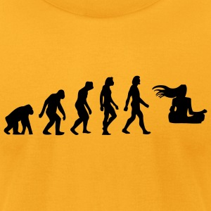 Evolution Zen (1c) T-Shirts - Men's T-Shirt by American Apparel