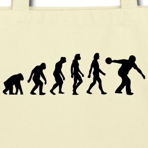 Evolution Bowling (1c) Bags  - Eco-Friendly Cotton Tote