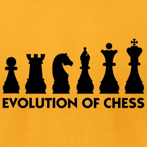 Evolution Chess 2 (1c) T-Shirts - Men's T-Shirt by American Apparel