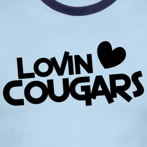 lovin cougars with love heart T-Shirts - Men's Ringer T-Shirt