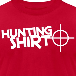 hunting shirt with target sight T-Shirts - Men's T-Shirt by American Apparel