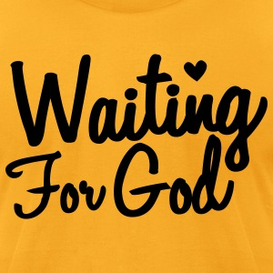 waiting for god T-Shirts - Men's T-Shirt by American Apparel