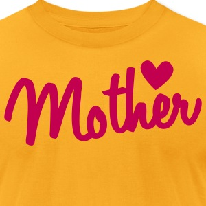 mother type with a heart T-Shirts - Men's T-Shirt by American Apparel