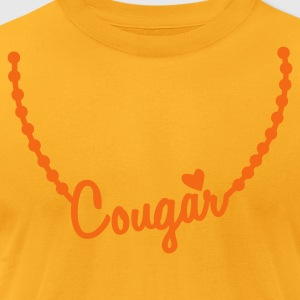 cougar necklace T-Shirts - Men's T-Shirt by American Apparel