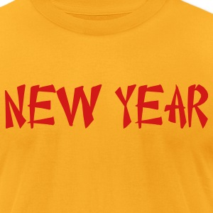 new year Chinese font T-Shirts - Men's T-Shirt by American Apparel