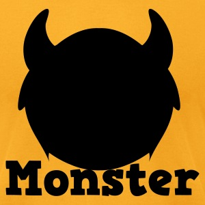 monster with horns T-Shirts - Men's T-Shirt by American Apparel