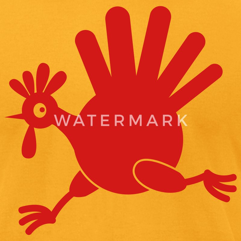 simple turkey on the run THANKSGIVING T-Shirts - Men's T-Shirt by American Apparel