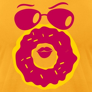 doughnut with a cute face T-Shirts - Men's T-Shirt by American Apparel