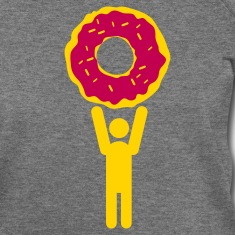 man with giant doughnut  Long Sleeve Shirts