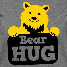 bear hug cute grizzly bears Long Sleeve Shirts