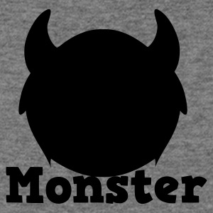 monster with horns Long Sleeve Shirts - Women's Wideneck Sweatshirt
