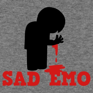 SAD EMO with blood Long Sleeve Shirts - Women's Wideneck Sweatshirt