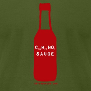 hot sauce for chemists - Men's T-Shirt by American Apparel