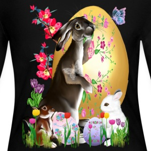 A Good Three Bunny - Women's Long Sleeve Jersey T-Shirt