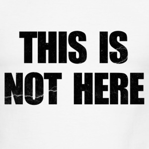 This is Not Here Entourage T-Shirts - Men's Ringer T-Shirt