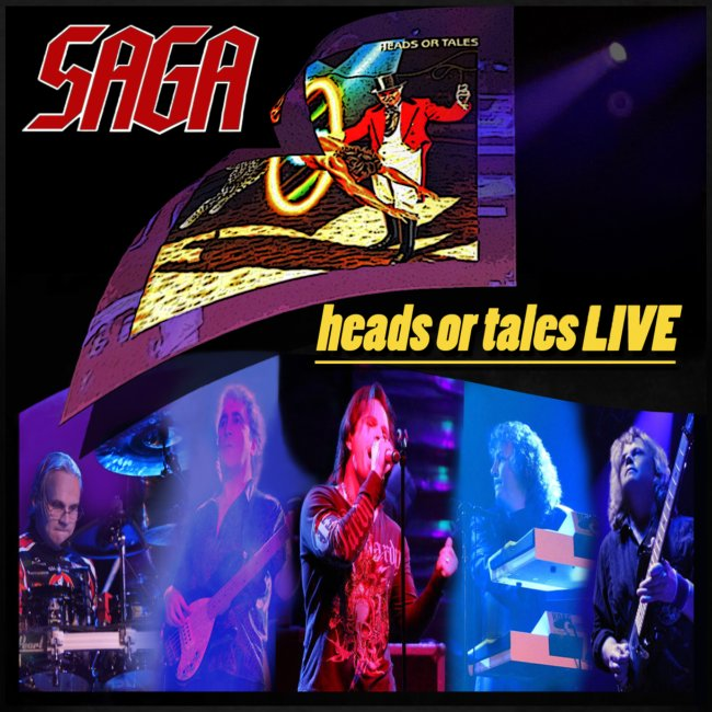 Saga - Heads or tales LIVE Tour T - dates on back