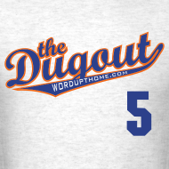 Design ~ DudleyDoWright #5 (David Wright) Mets Dugout T (Ash)