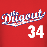 Design ~ HooligansHalladay #34 (Roy Halladay) Phillies Dugout T