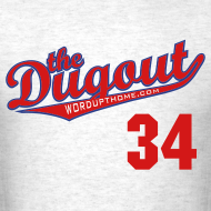 Design ~ HooligansHalladay #34 (Roy Halladay) Phillies Dugout T (Ash)