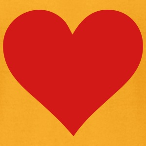 Heart Love (1c) T-Shirts - Men's T-Shirt by American Apparel