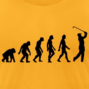 Evolution Golf (1c) T-Shirts - Men's T-Shirt by American Apparel