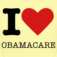 Design ~ I Heart Obamacare Tee Shirt (Women's)