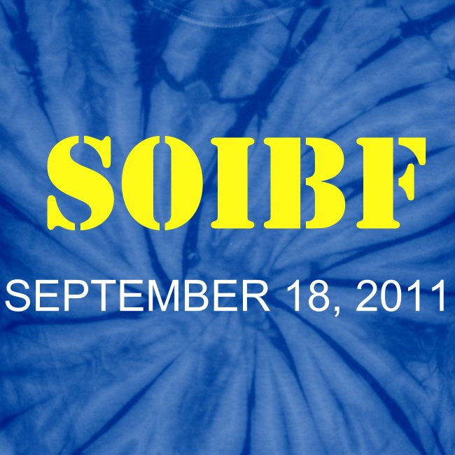 Official SOIBF 2011 Classic-cut tie dye t-shirt for both men and women