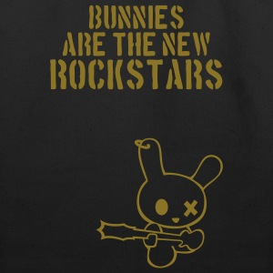 Rockstar bunny bunnies hare rabbit rock music cony leveret bimbo guitar grunge bass sound easter earring Bags  - Eco-Friendly Cotton Tote