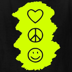 love_peace_happy Kids' Shirts - Kids' T-Shirt