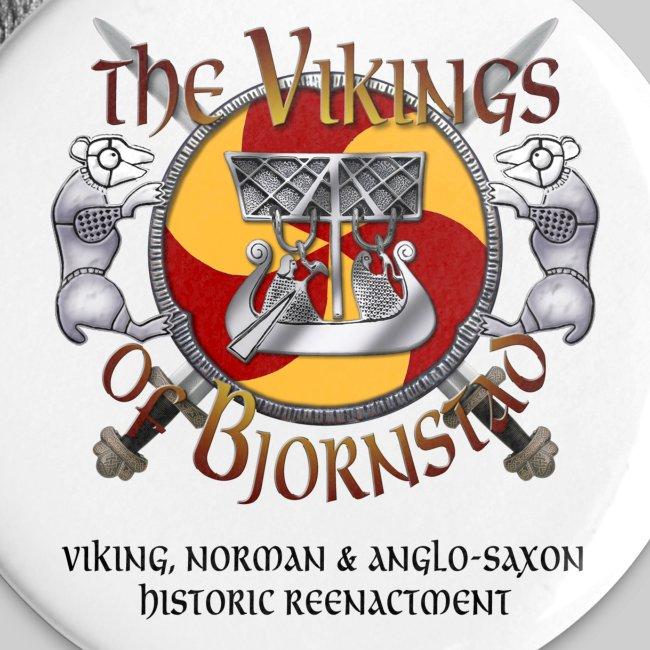 Small Vikings of Bjornstad Campaign Button with Tagline