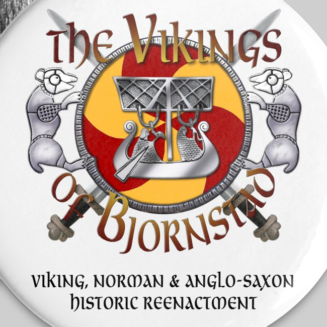 Large Vikings of Bjornstad Campaign Button with Tagline