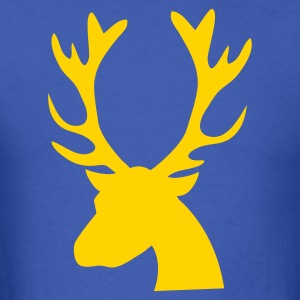 stag head reindeer T-Shirts - Men's T-Shirt