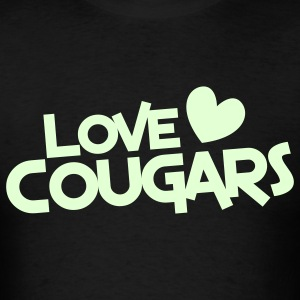 love cougars with heart T-Shirts - Men's T-Shirt