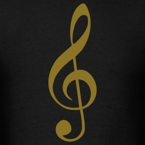 Treble Clef Woman  - Men's T-Shirt