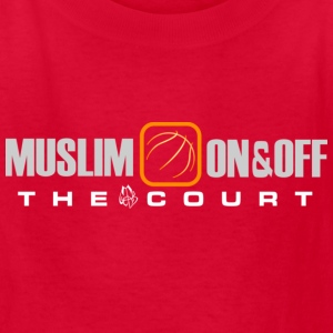 Muslim on and off the court Kids' Shirts - Kids' T-Shirt