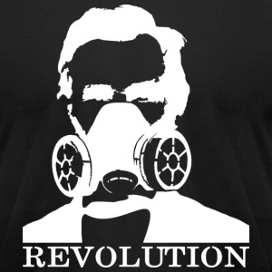 Revolution - Abe & Gas Mask - Men's T-Shirt by American Apparel