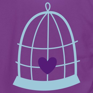nest birdcage with a cute love heart Zip Hoodies/Jackets - Unisex Fleece Zip Hoodie by American Apparel