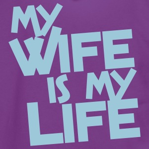 my wife is my life Zip Hoodies/Jackets - Unisex Fleece Zip Hoodie by American Apparel