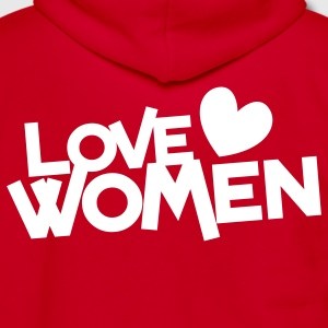 love women with love heart Zip Hoodies/Jackets - Unisex Fleece Zip Hoodie by American Apparel