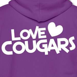 love cougars with heart Zip Hoodies/Jackets - Unisex Fleece Zip Hoodie by American Apparel