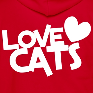 love cats heart cat lover Zip Hoodies/Jackets - Unisex Fleece Zip Hoodie by American Apparel
