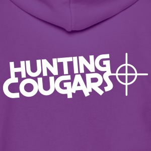 hunting cougars with target sight Zip Hoodies/Jackets - Unisex Fleece Zip Hoodie by American Apparel