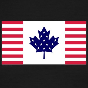 White/red canada usa T-Shirts - Men's Ringer T-Shirt