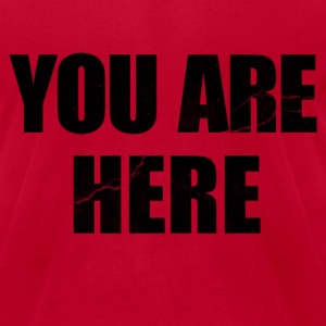 You Are Here Entourage Lennon T-Shirts - Men's T-Shirt by American Apparel