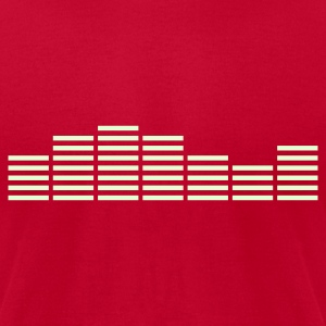 Equalizer Frequency DJ Sound Equalizer Frequency DJ Sound Music Beat Pop Techno discjockey record club electronica danceMusic Beat Pop Techno T-Shirts - Men's T-Shirt by American Apparel