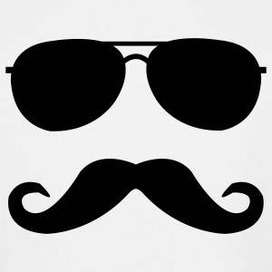 mustache and glasses T-Shirts - Men's Tall T-Shirt