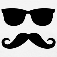 mustache and glasses Women's T-Shirts