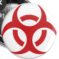 Design ~ Biohazard Small Buttons 5pk
