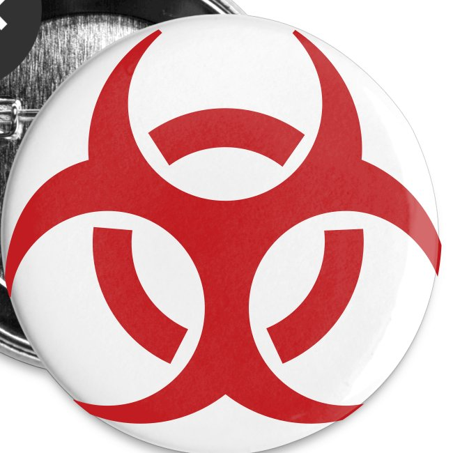 Biohazard Small Buttons 5pk
